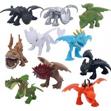 MINGZE 10 stücke Drachen Spielzeug PVC Sortiert Wie Drachenzähmen 5 bis 6 cm Action-Figuren Night Fury Toothless Dragons Birthday Party Favor Drachenzähmen leicht gemacht 3